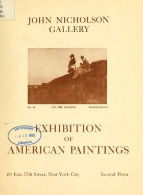 """Cover of """"Exhibition of American paintings"""""""
