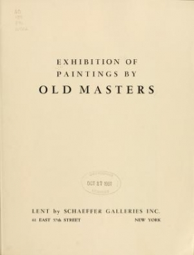 """Cover of """"Exhibition of paintings by old masters, [Los Angeles Museum]"""""""