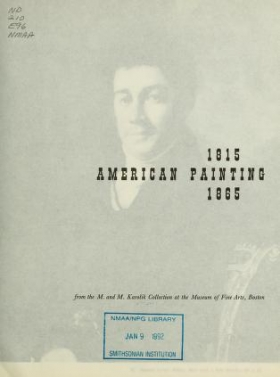 "Cover of ""An exhibit of American painting, 1815-1865"""