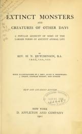"""Cover of """"Extinct monsters and creatures of other days"""""""