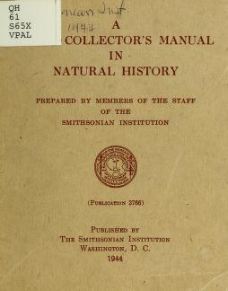 "Cover of ""A field collector's manual in natural history"""