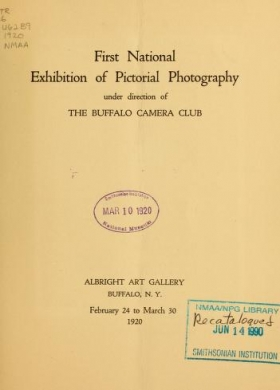 "Cover of ""First national exhibition of pictorial photography /"""