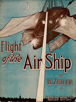 """Cover of """"Flight of the air ship"""""""