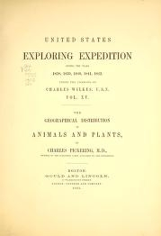 "Cover of ""The geographical distribution of animals and plants"""