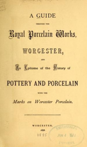 """Cover of """"A guide through the Royal Porcelain Works, Worcester"""""""