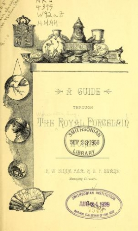 """Cover of """"A guide through the Royal Porcelain Works"""""""