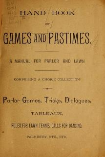 """Cover of """"Hand book of games and pastimes"""""""