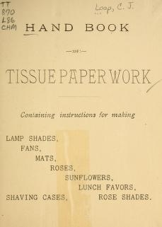 """Cover of """"Handbook of tissue paper work"""""""