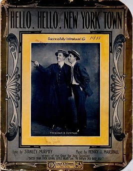 "Cover of ""Hello, hello, New York town"""