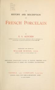 "Cover of ""A history and description of French porcelain"""