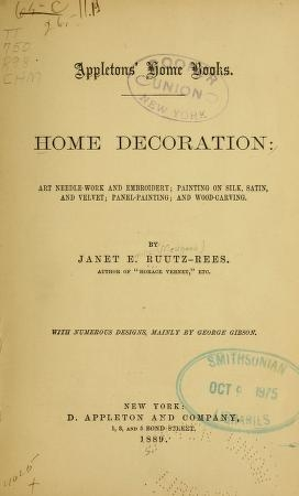 "Cover of ""Home decoration"""