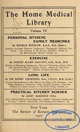 "Cover of ""The home medical library"""