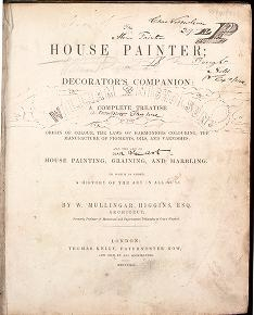 "Cover of ""The house painter, or, Decorator's companion"""