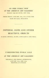 """Cover of """"Illustrated catalogue of an extraordinary collection of imperial jades and other beautiful objects..."""""""