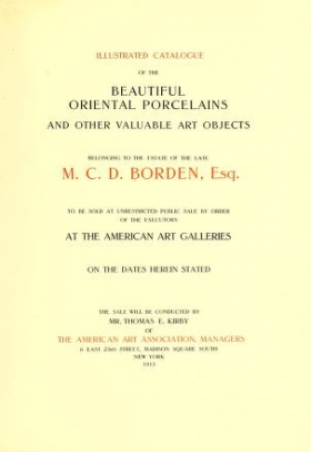 "Cover of ""Illustrated catalogue of the beautiful oriental porcelains and other valuable art objects"""