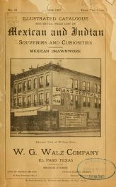 """Cover of """"Illustrated catalogue and retail price list of Mexican and Indian souvenirs and curiosities"""""""