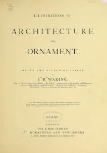 """Cover of """"Illustrations of architecture and ornament"""""""