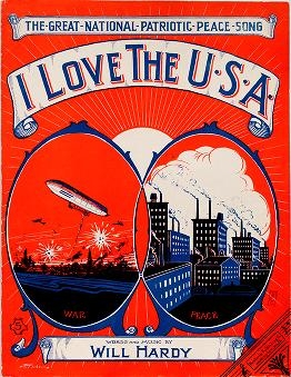 "Cover of ""I love the U.S.A"""