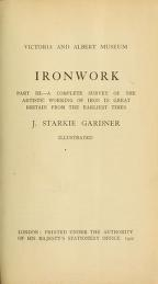 """Cover of """"Ironwork"""""""