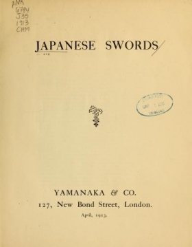 """Cover of """"Japanese swords"""""""