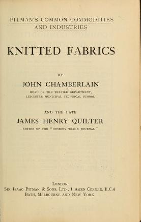 "Cover of ""Knitted fabrics"""