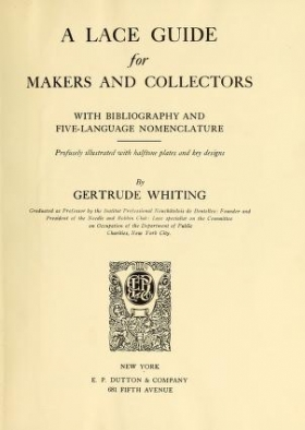 """Cover of """"A lace guide for makers and collectors"""""""