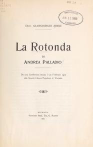 "Cover of ""La Rotonda di Andrea Palladio"""