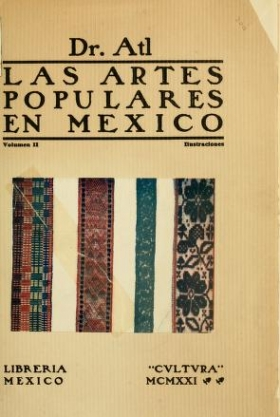 "Cover of ""Las artes populares en Mexico"""