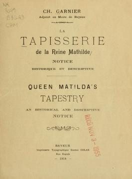 "Cover of ""La tapisserie de la reine Mathilde"""