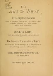 """Cover of """"The laws of whist"""""""