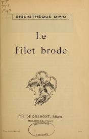 "Cover of ""Le Filet brodé"""