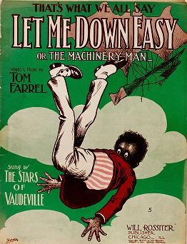 """Cover of """"Let me down easy, or, The machinery man"""""""