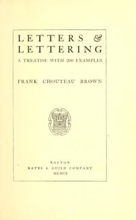 """Cover of """"Letters & lettering"""""""