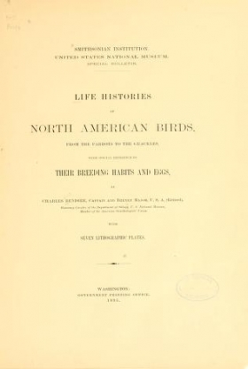 "Cover of ""Life histories of North American birds"""