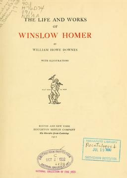 account of the life and works of winslow homer The life and works of winslow homer  it combines a vividly recalled account of the events of homer's life with an insightful analysis of hisunique approach to art.