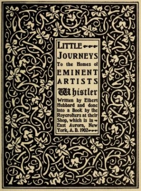 "Cover of ""Little journeys to the homes of eminent artists"""