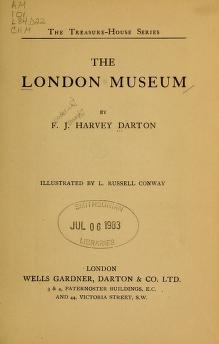"Cover of ""The London museum"""