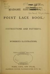 """Cover of """"Madame Goubaud's point lace book"""""""