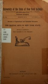 """Cover of """"The manual arts in New York State"""""""