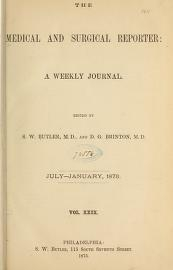 "Cover of ""The Medical and surgical reporter"""