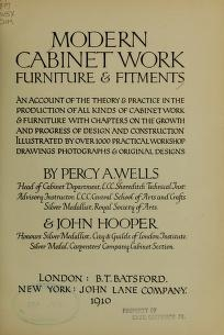 "Cover of ""Modern cabinetwork, furniture & fitments"""
