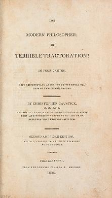 "Cover of ""The modern philosopher, or, Terrible tractoration! : in four cantos, most respectfully addressed to the Royal College of Physicians, London /"""