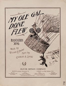 "Cover of ""My ole gal done flew"""