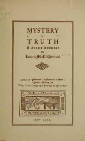 """Cover of """"Mystery and truth"""""""