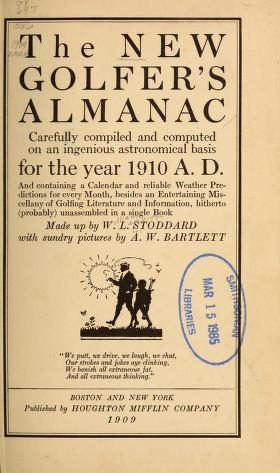 """Cover of """"The new golfer's almanac"""""""