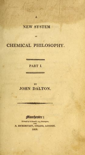 "Cover of ""A new system of chemical philosophy"""