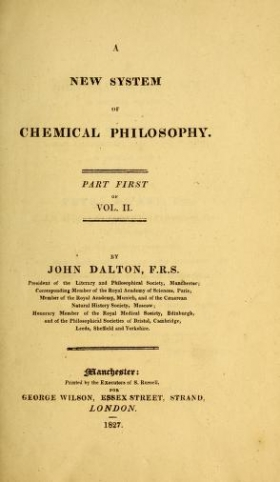 """Cover of """"A new system of chemical philosophy"""""""