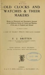 """Cover of """"Old clocks and watches & their makers"""""""