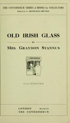 """Cover of """"Old Irish glass"""""""