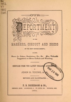 """Cover of """"Our deportment; or, The manners, conduct and dress of the most refined society"""""""